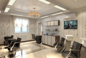 Фото интерьеров парикмахерских салонов