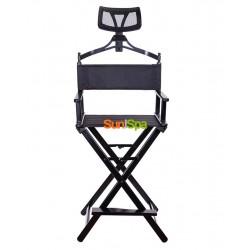 Алюминиевый стул визажиста-бровиста с подголовником K