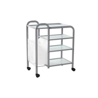 Столик косметологический (металл/стекло) - н04 K