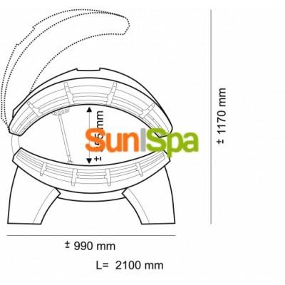 Солярий горизонтальный Onyx Pro Line 28/1  K